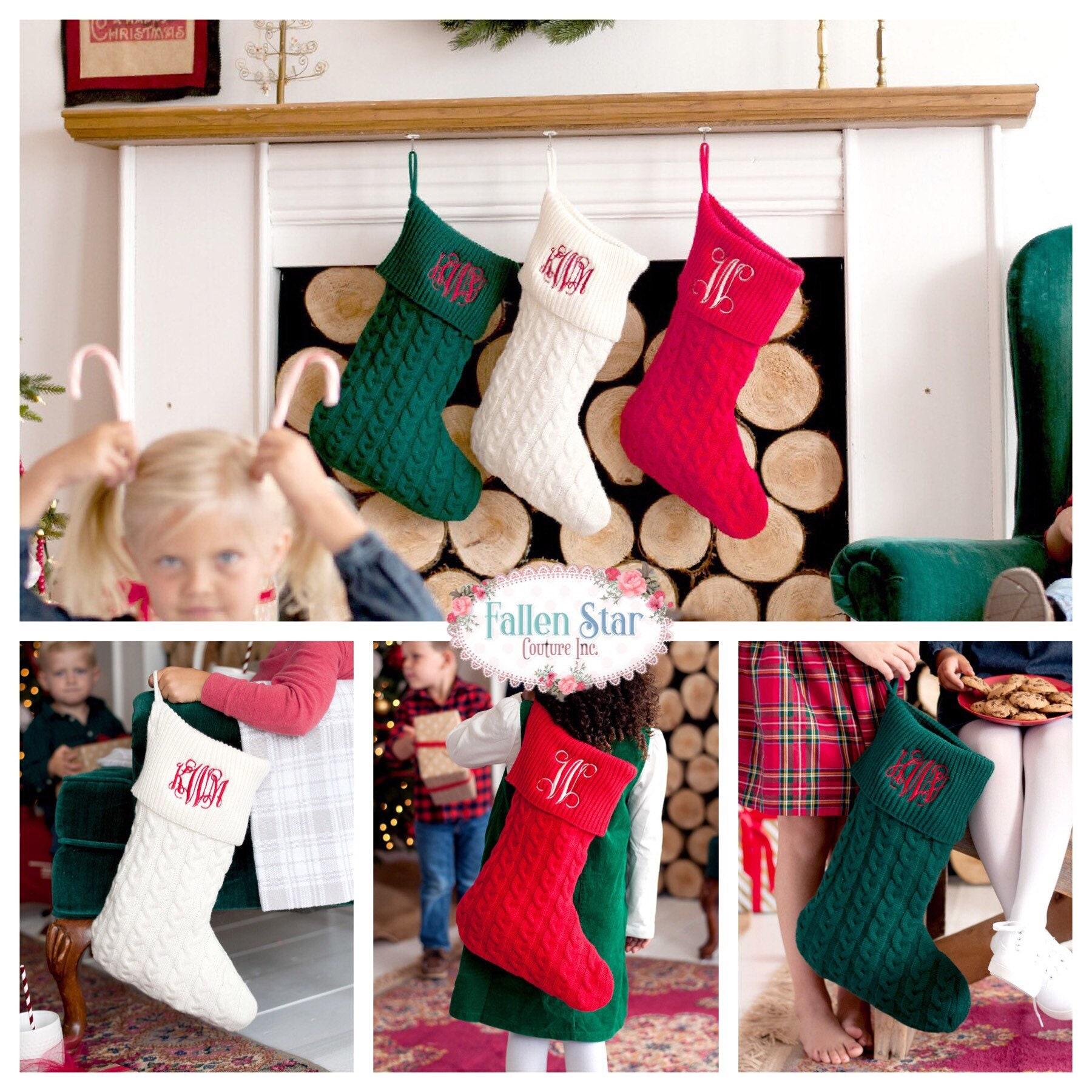 Christmas Stocking , monogrammed christmas stocking , personalized ...