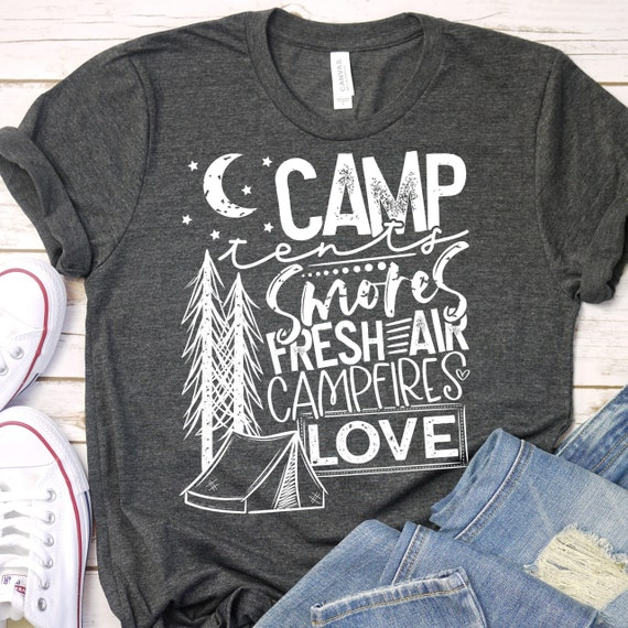 Ladies Camping Shirt, Girls Camping Tee, Camping S'mores , Love Camping Shirt, Glamping Tee, SP