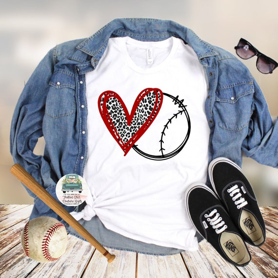 Baseball Mom Shirts, Baseball Mom ,Baseball Shirt, Baseball Shirts, Mom Shirt, Mom Shirt, Baseball Mom , Baseball Heart Leopard