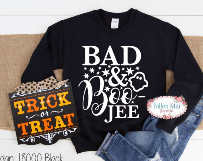 Ladies Halloween T- Shirt , Halloween Shirt , Ladies Halloween Shirt , Womans Halloween Tee , Bad and Boo Jee