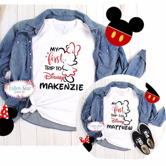 First trip to Disney shirt, matching family Disney shirts, Disney Halloween shirts, Family vacation shirts, matching shirts