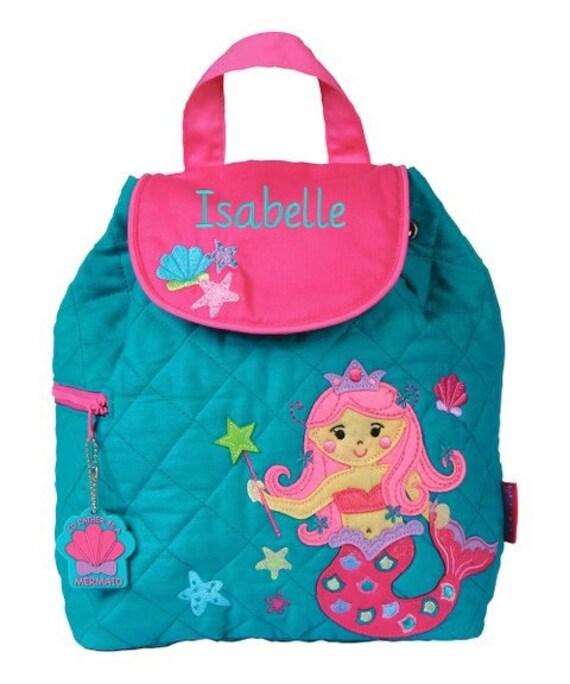 Clearance , Mermaid backpack , toddler back back , toy bag , preschool backpack , stephen joseph backpack , personalized kids bag, Quilted