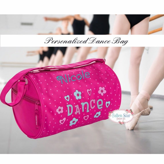 Girls ballet bag, girls dance bag, dance class bag, personalized ballet bag, personalized dance bag, little girl dance bag, bling ballet