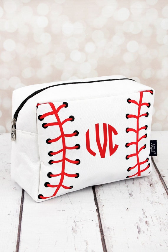 BASEBALL Monogrammed Cosmetic Bag, personalized Makeup Bag , BASEBALL Cosmetic bag , Baseball Mom Bag