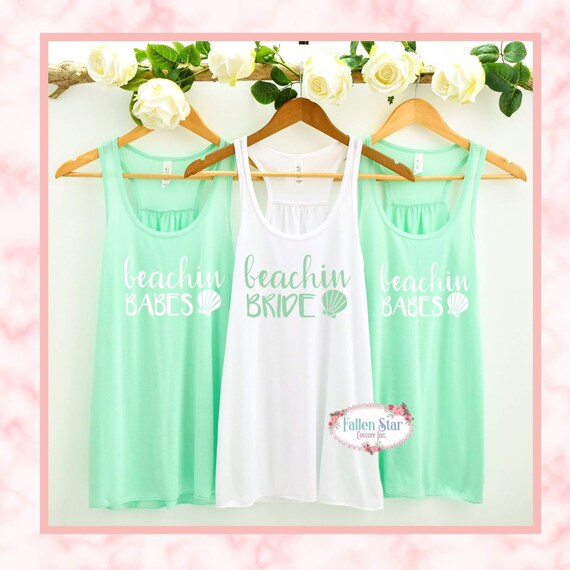 Beachin Bride, Beachin Babes, Bachelorette Party Tank Top, Bridesmaid Shirt, Bachelorette Party Shirts Beach, Beach Bachelorette, Cruise