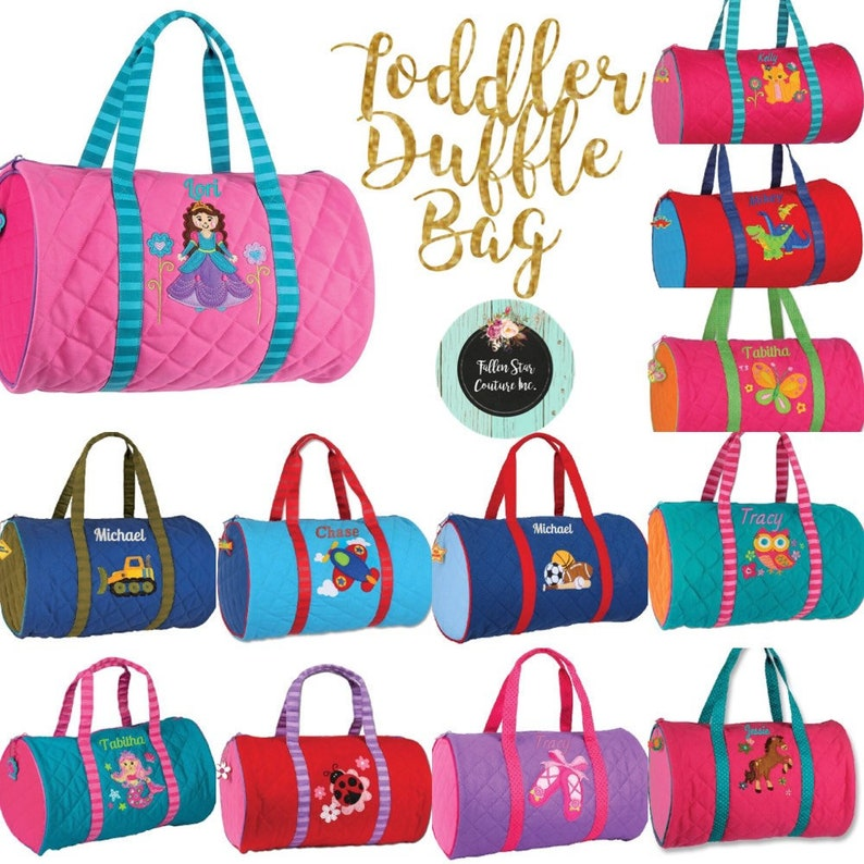 cb2fff9d2914 Toddler Duffle Bag Preschool Duffle Bag Kids Duffle bag