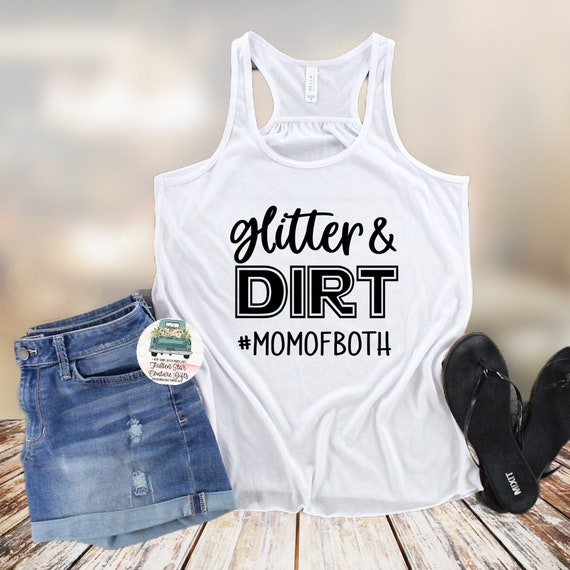Baseball Mom Shirts, Baseball Mom ,Baseball Shirt, Baseball Shirts, Mom Shirt, Mom Shirt, Baseball Mom, Glitter and Dirt Mom Of Both