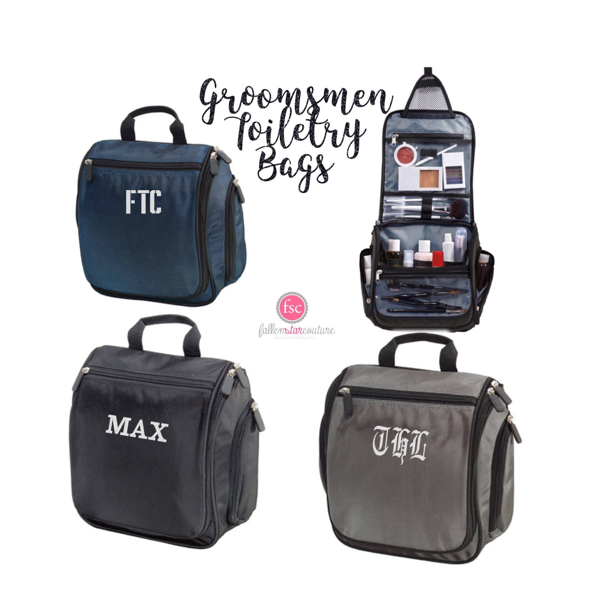 Groomsman gifts hanging toiletry bag personalized mens  c55743afda863