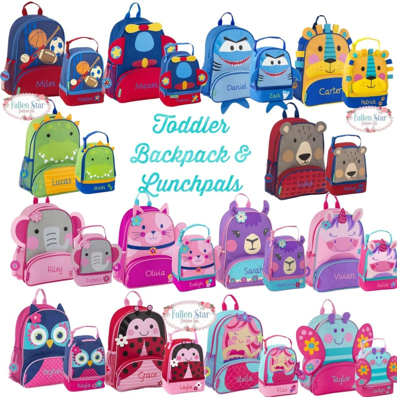 619efe199d Toddler Backpack lunchbox Preschool Backpack Personalized