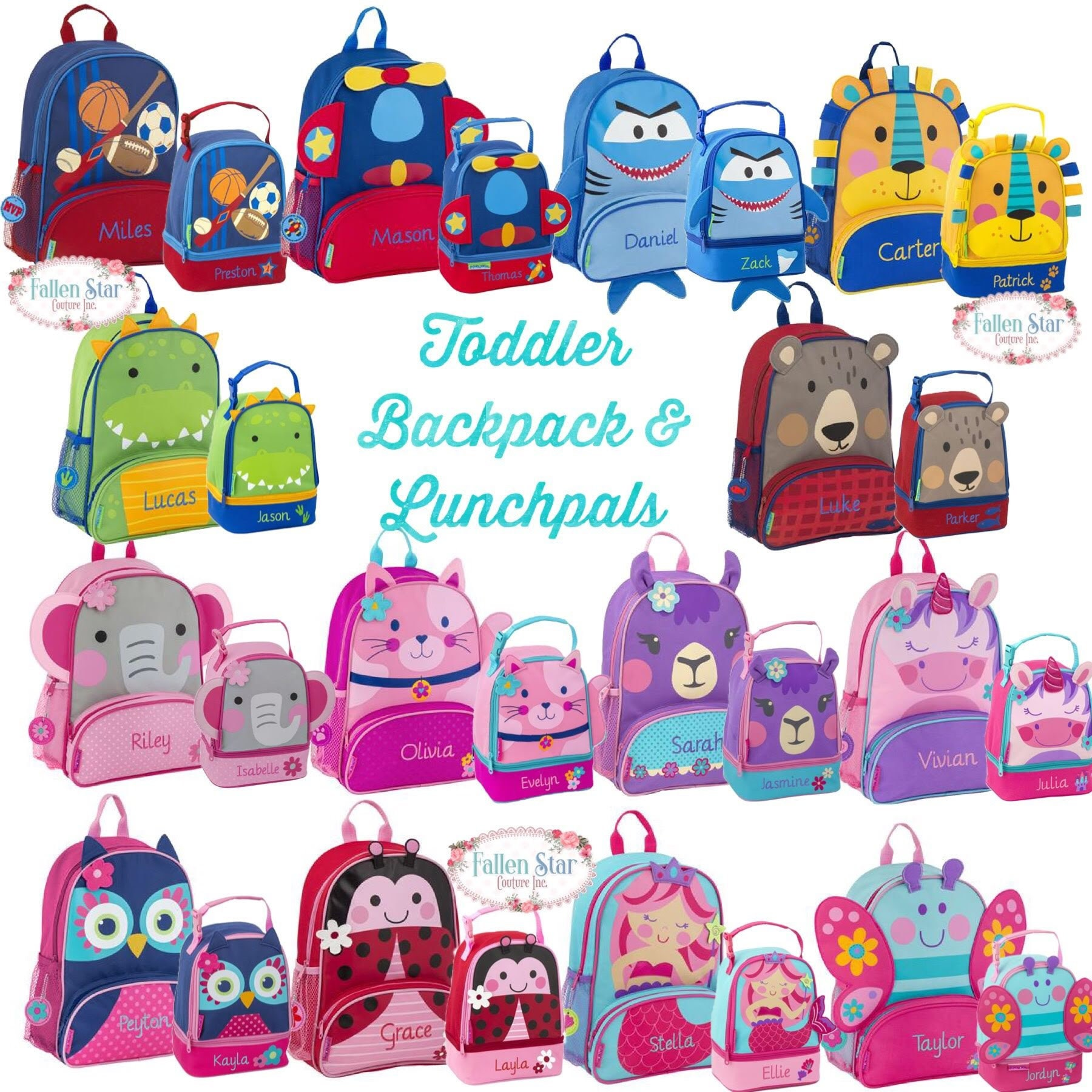 ff44ecd69c41 Toddler Backpack lunchbox Preschool Backpack Personalized Toddler Backpack  Stephen Joseph Unicorn Backpack Diaper Bag