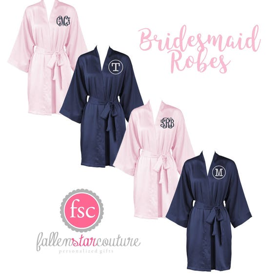 Bridesmaid Robes, Satin Robes, Kimono Robe, Wedding Robes ,Bridesmaid Satin Robes , Getting Ready Robes