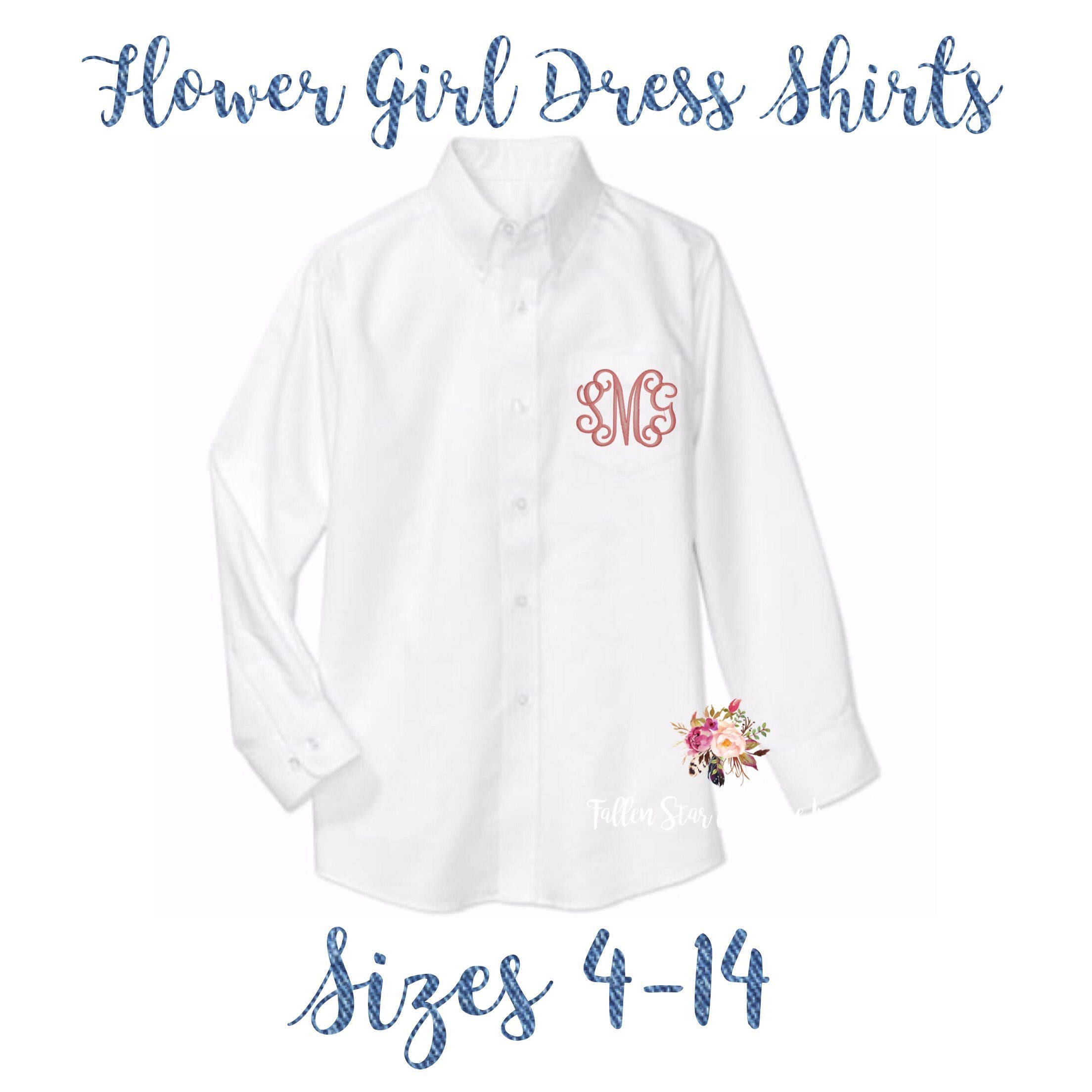 Flower Girl Oxford Shirts Monogrammed Oxford Shirts Getting Ready