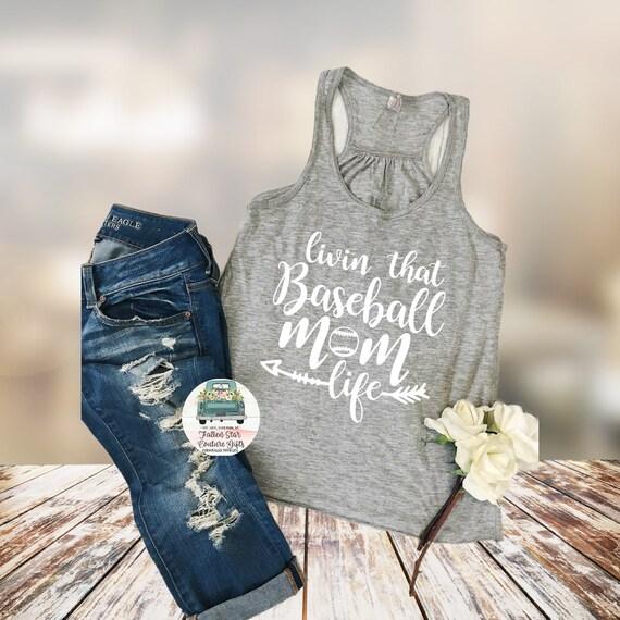 Baseball Mom Shirts, Baseball Mom ,Baseball Shirt, Baseball Shirts, Mom Shirt, Mom Shirt, Baseball Mom T Shirt,Living that Baseball Mom Life
