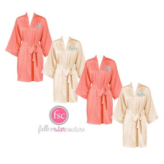 Bridesmaid  Robes, Bridal Party Robes , Bridesmaid Robes, Wedding Robes , Silk Bridesmaid Robes, Bridal Party Gifts, Satin Robes