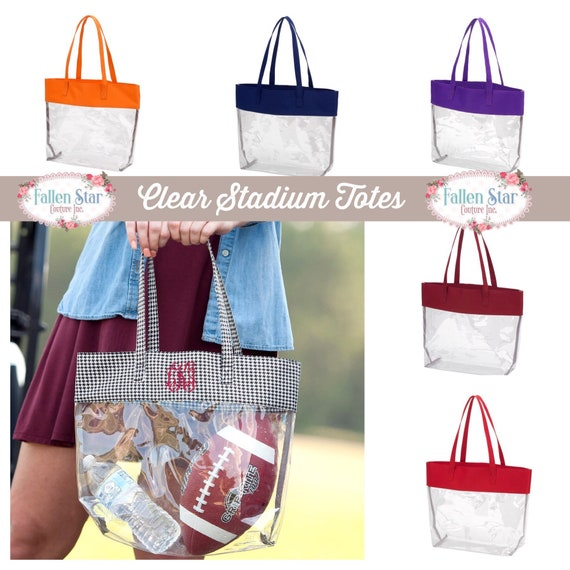 a6ac9a2dbc7 Stadium Clear Tote Stadium Bag Football Game Bag Concert | Etsy