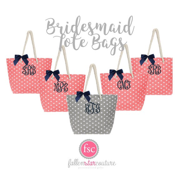 Coral Tote Bags , Bridesamid Tote Bags , Bridal Party Tote Bags , Welcome Tote , Destination Wedding Beach Tote , Bridesmaid Gifts