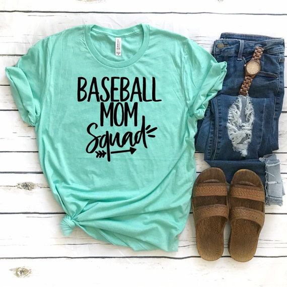 Baseball mom squad, Baseball mom tee, baseball mom shirt, baseball mom TANK, Sports mom T-shirt, baseball mom gift, baseball mom hoodie