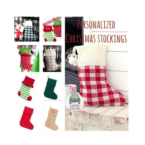 Christmas Stocking , Family Stockings, Personalized Christmas Stocking, Monogrammed Stocking , Holiday Stocking , Farmhouse Christmas