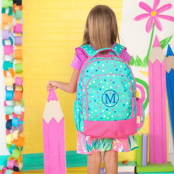 Girls backpack, girls lunchboxes, girls backpack and lunch box, back to school, full-size backpack, kindergarten backpack, LOTTIE