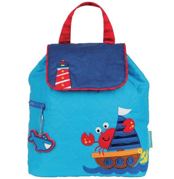 Clearance , Nautical backpack , toddler back back , Boys Backpack , preschool backpack , stephen joseph backpack , personalized kids bag,