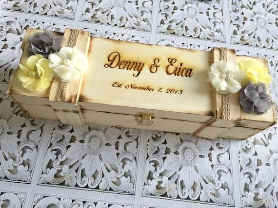 wedding wine box, custom colors , wine bottle box, housewarming gift, new home gift