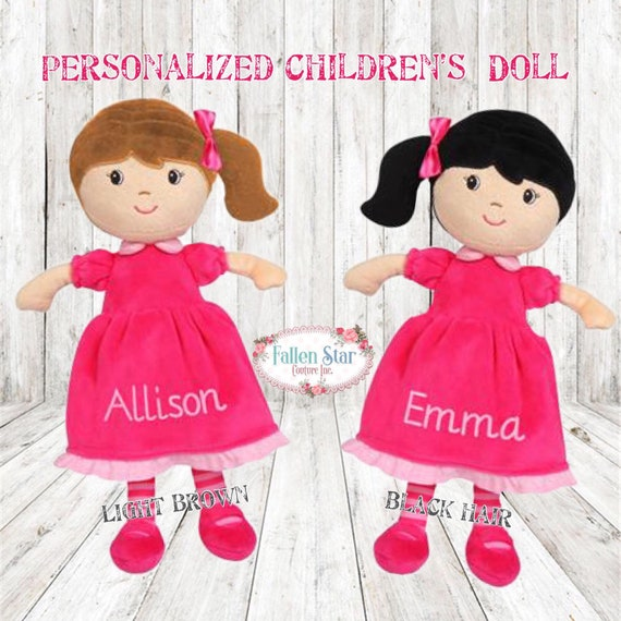 Personalized Dolls  Personalized Doll For Baby  Little Girl Gift  Young Gift Gift Idea Toddler Girl Christmas Present