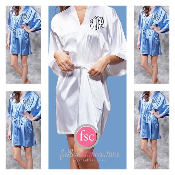 Monogrammed Bridesmaid Robes , SATIN wedding robes , bridesmaid gifts , personalized wedding robes , monogrammed satin robe
