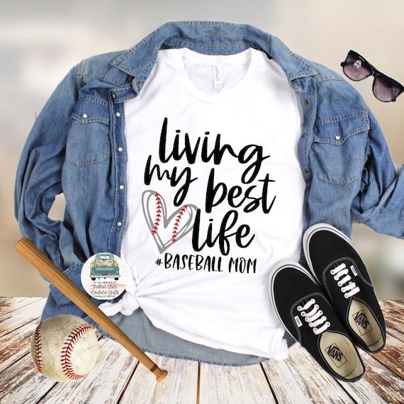 Baseball Mom Shirts, Baseball Mom ,Baseball Shirt, Baseball Shirts, Mom Shirt, Mom Shirt, Baseball Mom ,Living my Best life