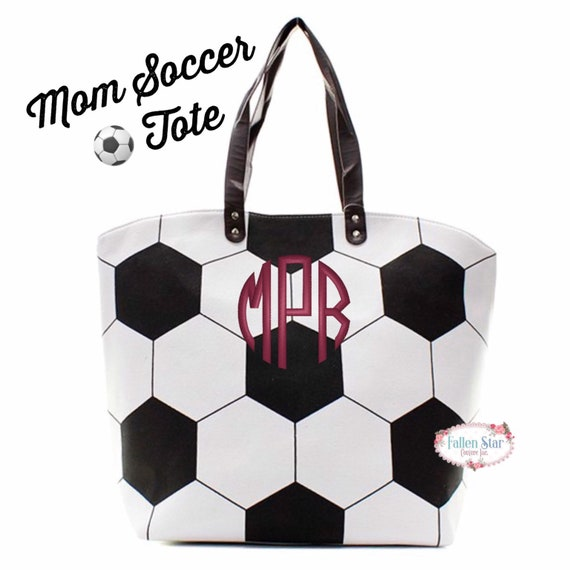 Personalized Soccer tote bag , soccer moms tote bag, sports tote, sports mom bag, monogrammed soccer tote, womans soccer tote