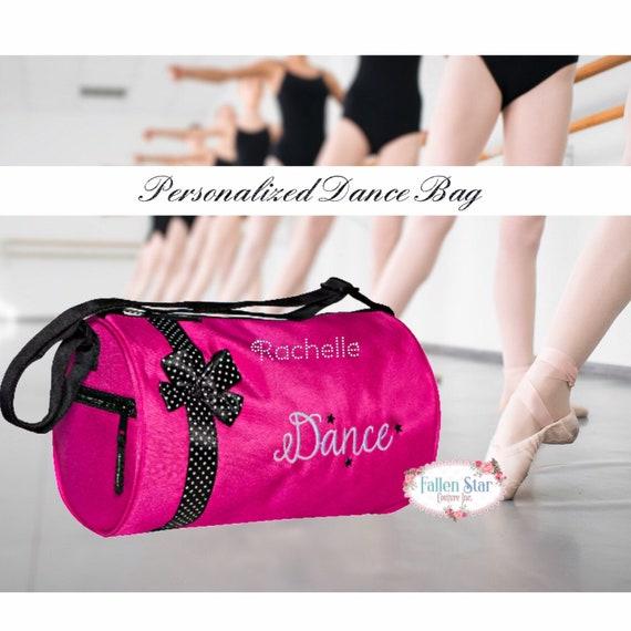 Personalized Dance Bag , dance class bag, ballet slipper duffel bag, duffel bag for girls dance, personalized dance class bag, bling