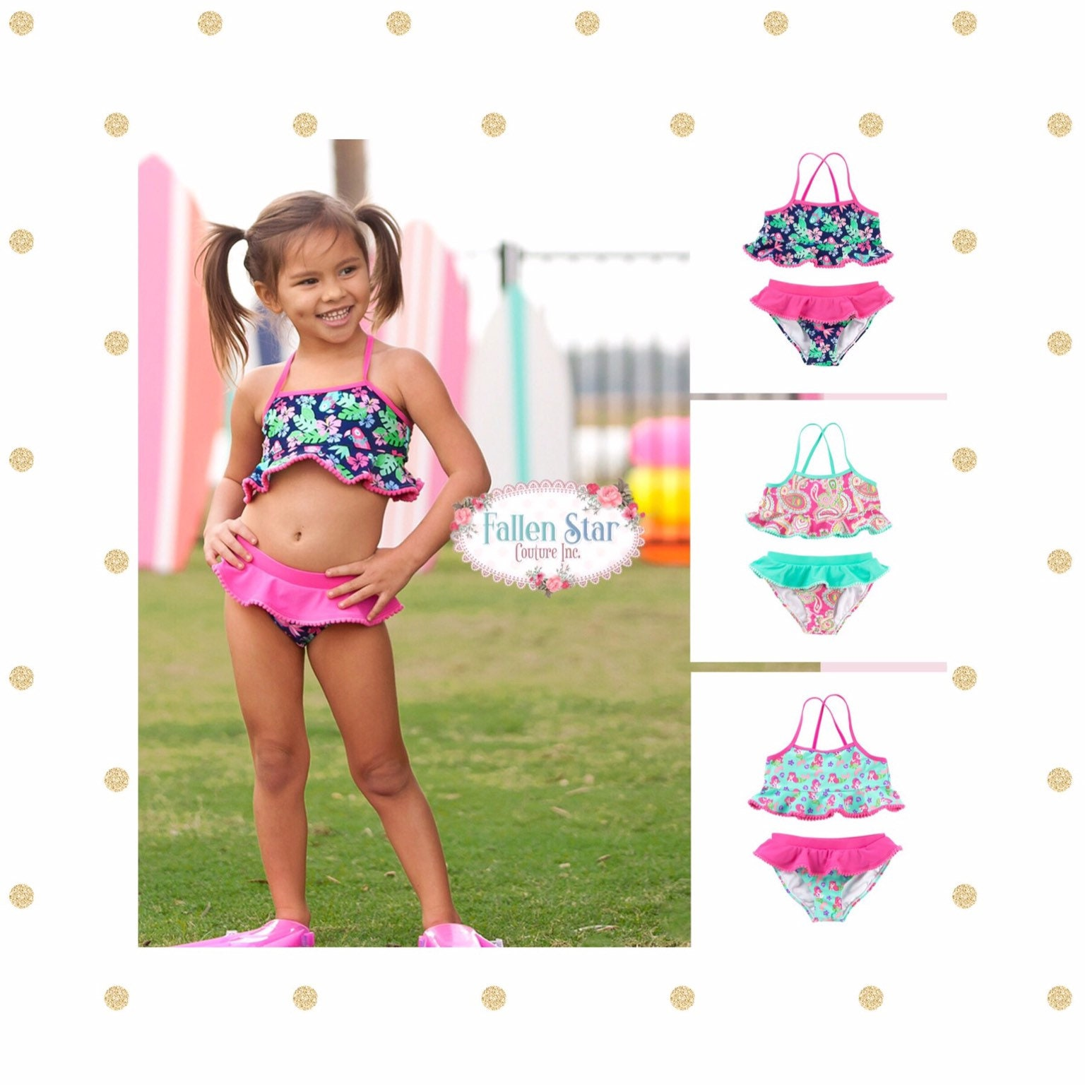 586e3a8b Monogrammed Girls Bathing Suit , Personalized Girls Bathig Suit , Girls  Tankini Set ,Toddler Bathing Suit , Girls Bikini