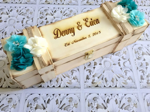 Rustic wood burned wine box- Wine box -custom wine box- love letter wine box -personalized wine box