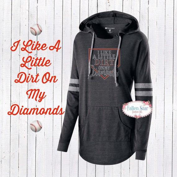 I Like a little dirts on my diamonds , Baseball mom shirt, baseball mom hoodie, baseball mom tank top, baseball mom lace up hoodie,bling