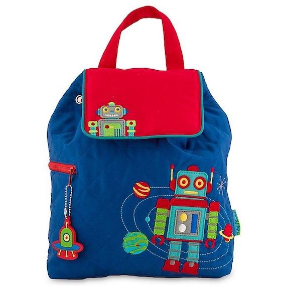 Clearance , Robot  backpack , toddler back back , Boys Backpack , preschool backpack , stephen joseph backpack , personalized kids bag,