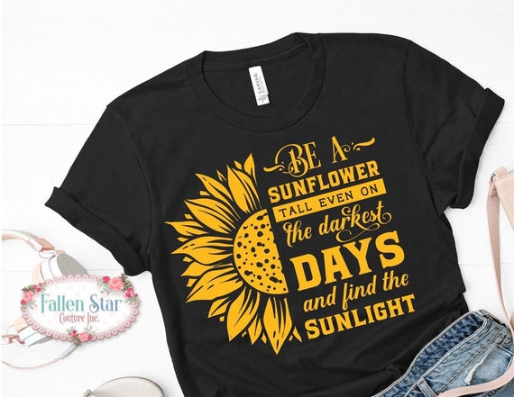 Sunflower Shirt, Fall Tee, Sunflower Lover Gift, Autumn T-Shirt, Ladies Fall Tee, Woman's Sunflower Shirt