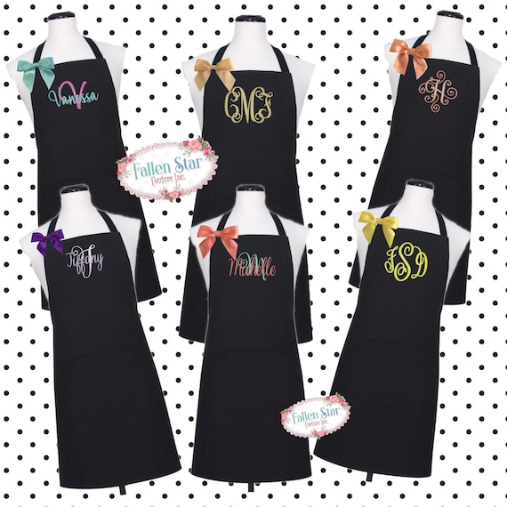 Monogrammed Apron  , kitchen apron , cooking apron , ladies apron , personalized apron, MOTHERS DAY GIFTS
