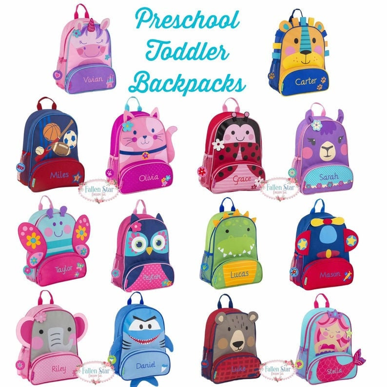 Toddler Backpack lunchbox Preschool Backpack Personalized image 0