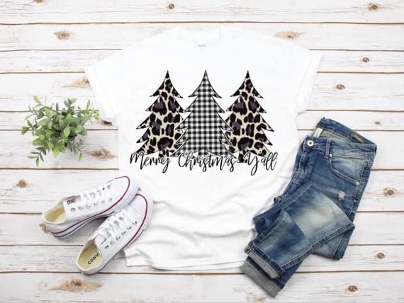 Christmas Shirt , Christmas Tee, Mom Shirt , Christmas Tree shirt , Leopard Christmas Shirt , Ladies Christmas Shirt
