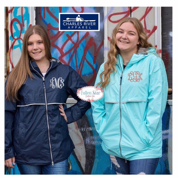 Womans Rain Jacket , Womens New Englander ® Rain Jacket , ANORAK pullover , personalized rain jacket , sorority jackets, MonogramRain Jacket