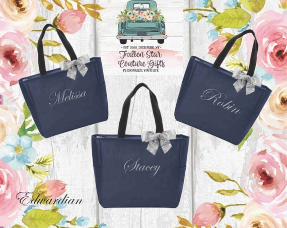 Bridesmaid Tote Bags, Bridesmaid Gift, Bridesmaid Tote, Personalized Bridesmaid Bag, Bridal Party Bag, Bridal Party Gift, Wedding Party Gift