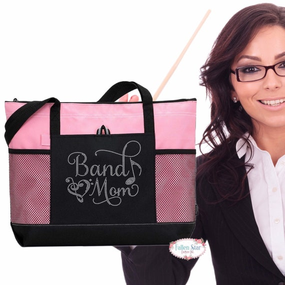 marching band mom, high school band tote, music note tote bag, Band Mom Unisex T-shirt - Band Mom Shirts - Mom Shirts - Band Mom Gift