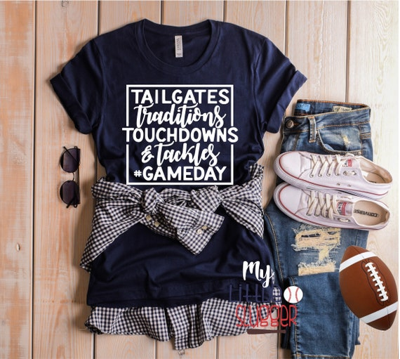 Tailgates Touchdowns, Football Mom Shirt , Football Sweatshirt , Custom Football Shirt, Mom Shirts, Football Mom T Shirts, Sunday Football