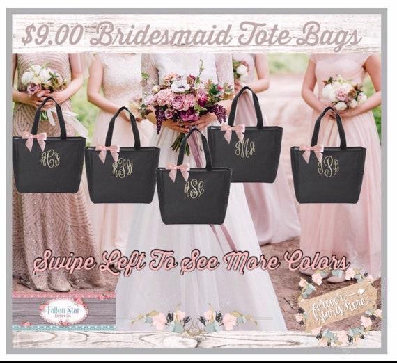 TOP SELLER / Bridesmaid Tote Bags, Maid of Honor Tote, Personalized Bridesmaid Bags, Bridal Party Bridesmaid Gifts