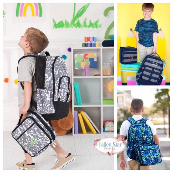 Boys Backpack, Boys Lunchbox, Boys Backpack and Lunchbox, Personalized Boys Backpack , Boys Back To School, Kids Backpack