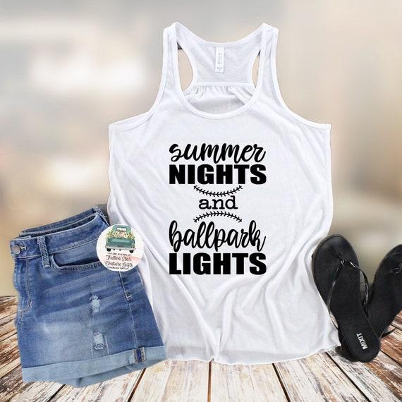Baseball Mom Shirts, Baseball Mom ,Baseball Shirt, Baseball Shirts, Mom Shirt, Mom Shirt, Baseball Mom , Summer Nights Ballpark Lights