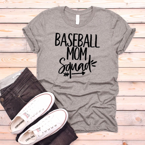 Baseball mom squad shirts, baseball mom tank top, baseball mom apparel, funny baseball mom shirt, baseball little league , tee ball mom