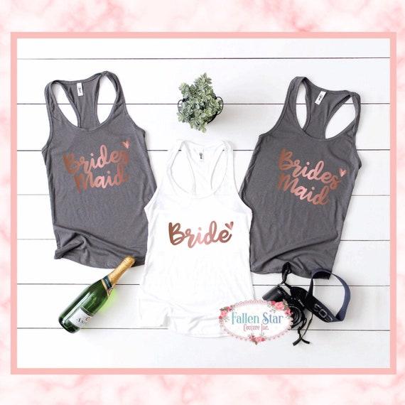 Bachelorette party shirt, bridesmaid shirt, matron of honor, bride shirt, bridesmaid gift, bridesmaid shirt, wedding party shirts