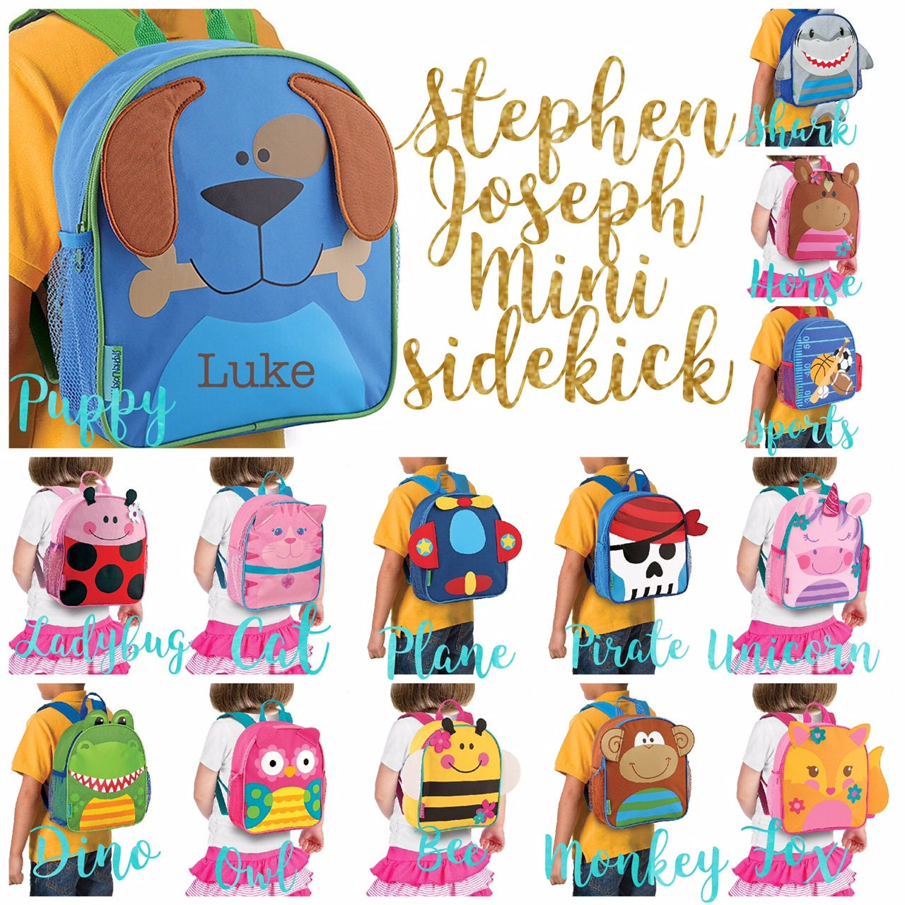 Personalized Toddler Backpack ,Toy Bag ,