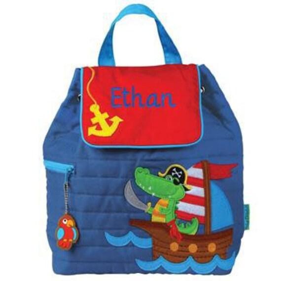 Clearance , Pirate Alligator backpack , toddler back back , toy bag , preschool backpack , stephen joseph backpack , personalized kids bag