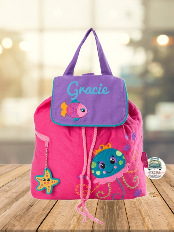Clearance , Jelly Fish backpack , toddler back back , toy bag , preschool backpack , stephen joseph backpack , personalized kids bag,